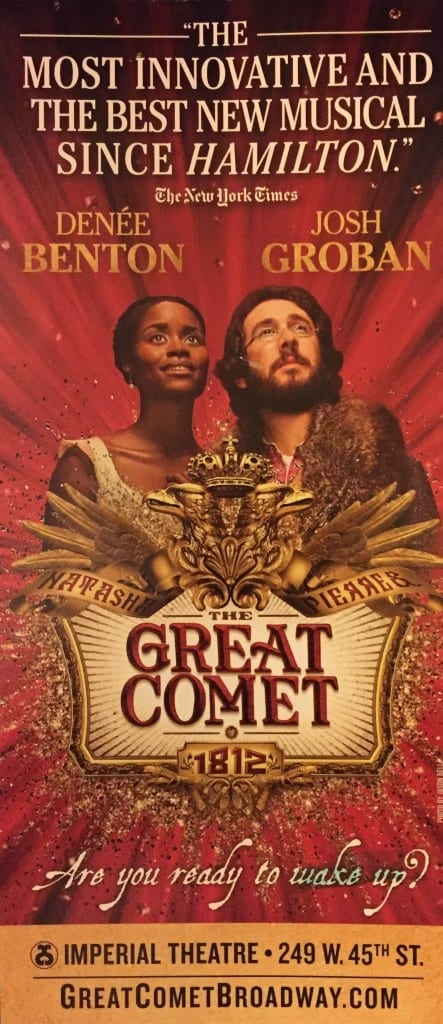 The Great Comet of 1812: Innovative Stage Play by Josiah Go