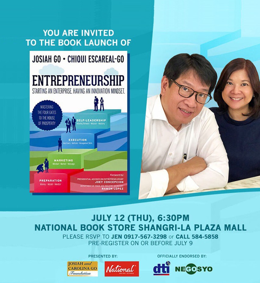 Book Launch Invite: July 12, 2018 (Thur), 6:30pm, National Book Store Shangri-La Mall