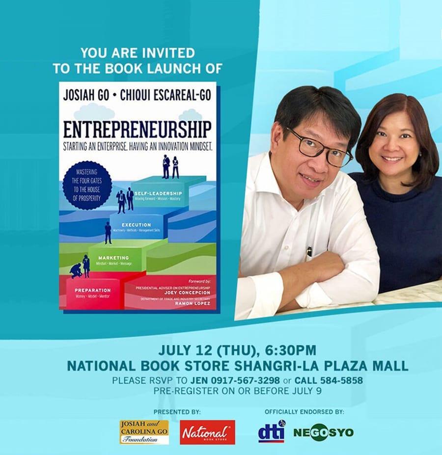 Book Launch Invite: July 12, 2018 (Thur), 6:30pm, National Book Store Shangri-La Mall
